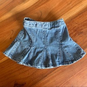 Hanna Andersson jean skirt, size 80 (18-24 months)